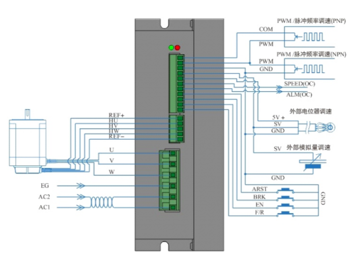 DH05HR直流无刷电机控制器接线图