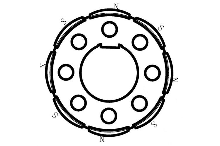 永磁无刷直流电机的转子磁路基本结构形式