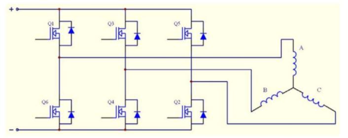 直流無刷電機全橋式驅動電路