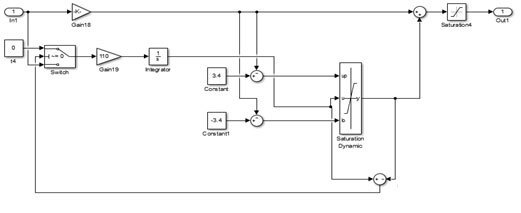 直流伺服电机系统电流环调节器结构图
