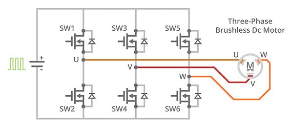 三相桥式无刷驱动器电路