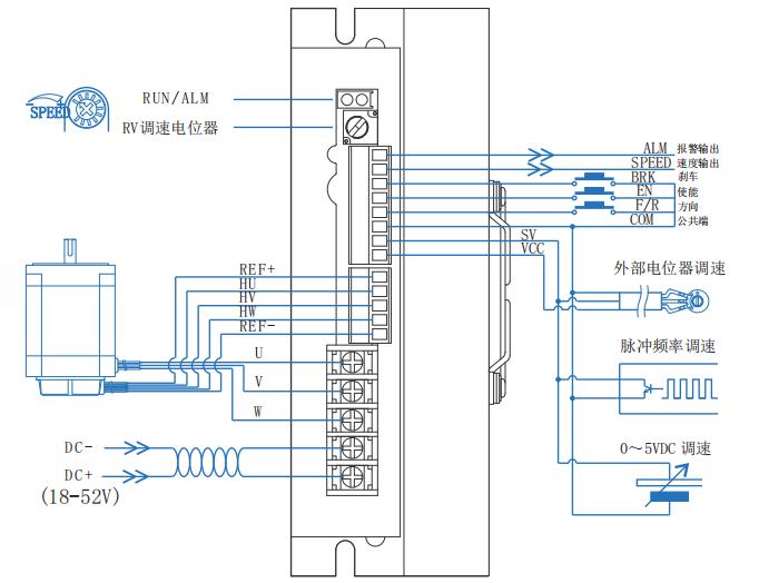 48V无刷控制器接线图