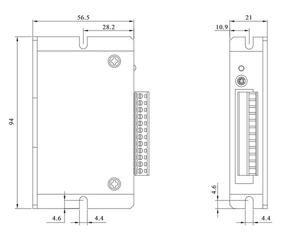BLD03LA无刷驱动器_外形尺寸