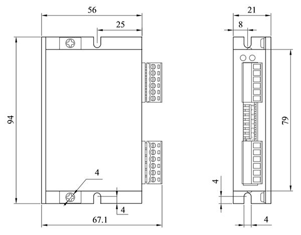 DM25L2步进电机驱动器_外形尺寸