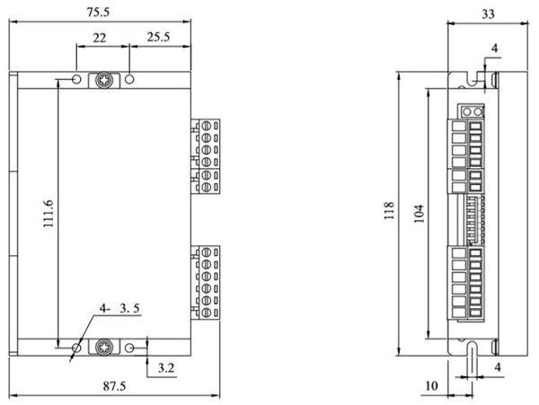 DM42L2两相步进电机驱动器_外形尺寸