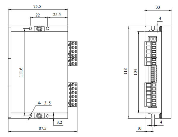 DM56L2步進驅動器_外形尺寸