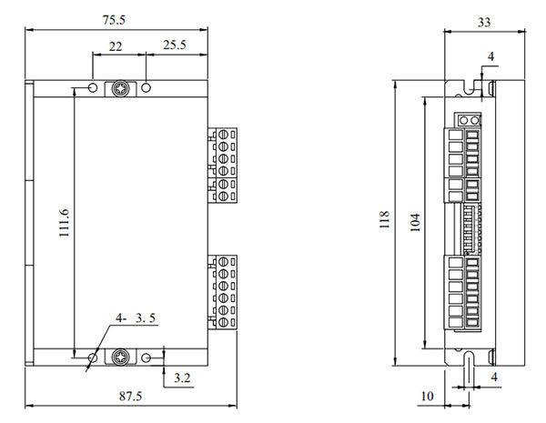 DM56L2步进驱动器_外形尺寸