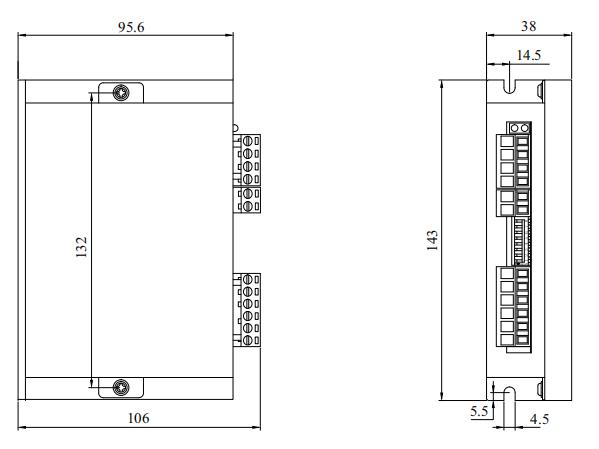 DM72L2步进电机驱动器_外形尺寸
