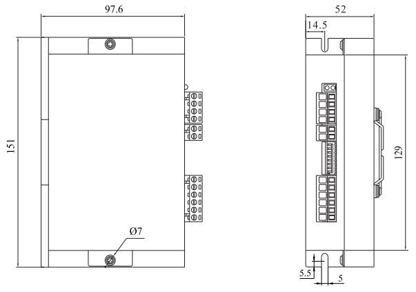 DM72M2步進電機驅動器_外形尺寸