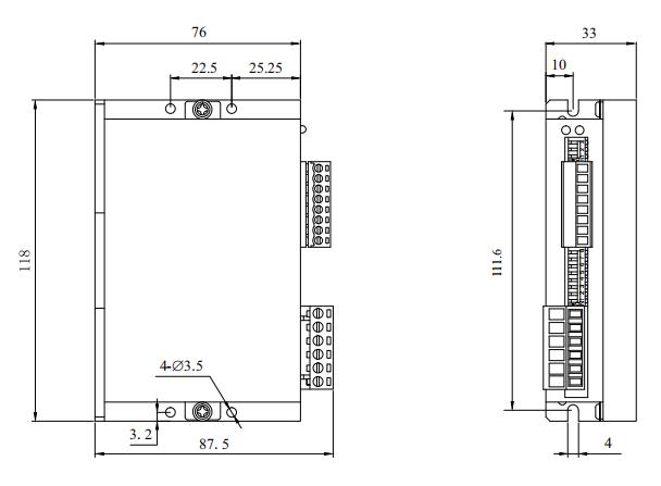 DM78L3三相步進電機驅動器_外形尺寸