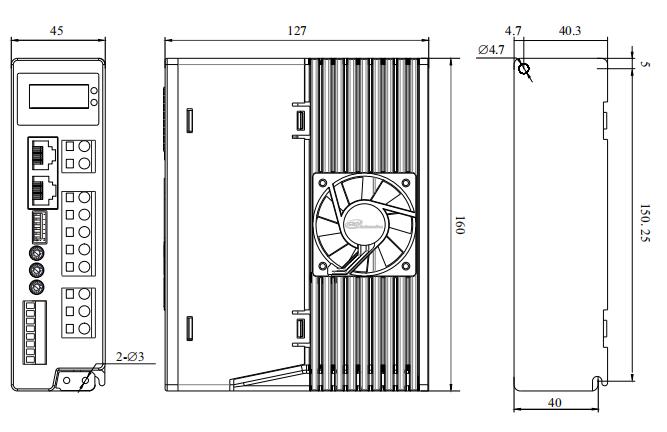 DM82H3三相步进电机驱动器外形尺寸