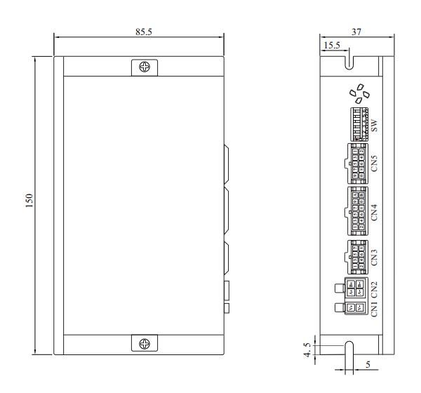 D2SS86閉環步進電機驅動器_外形尺寸