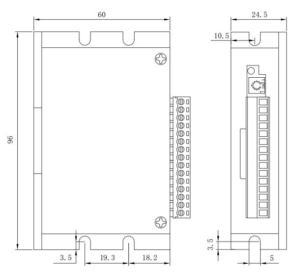 BLD08LA无刷电机驱动器_外形尺寸