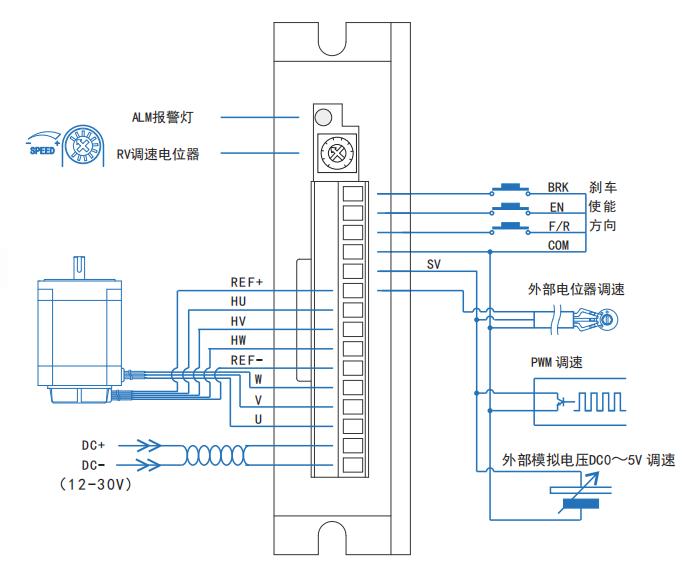 BLD08LA无刷电机驱动器_接线图