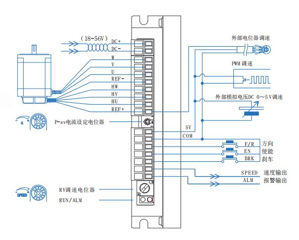 BLD15LB无刷电机驱动器接线图