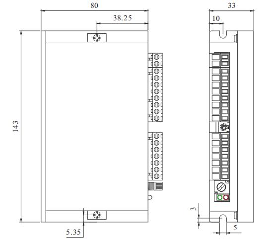 BLD15LB无刷电机驱动器_外形尺寸