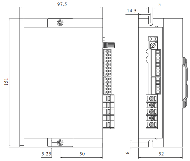 BLD25LB無刷電機驅動器_外形尺寸