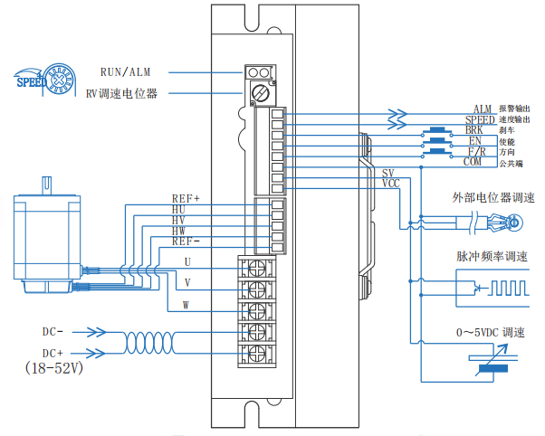 BLD25LB無刷電機驅動器接線圖