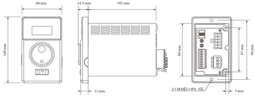 DHD200LRD无刷驱动器-尺寸图