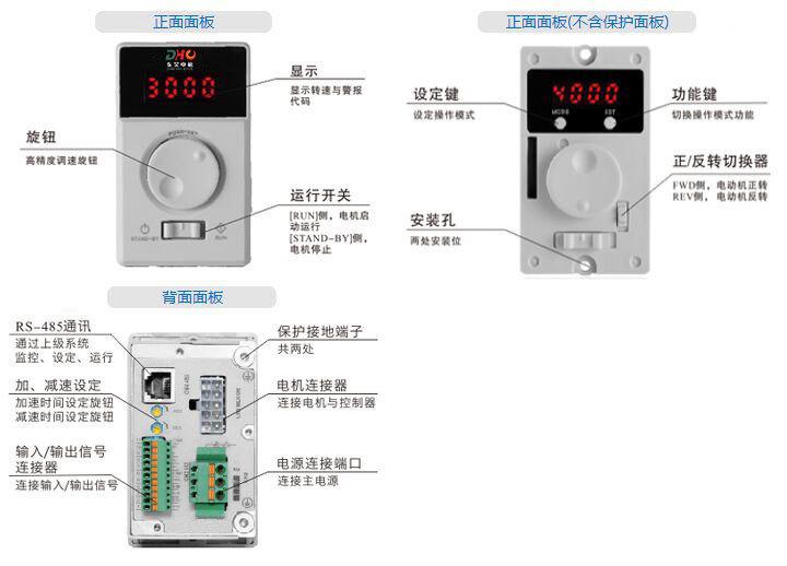 DHD200LRD无刷驱动器-面板简介
