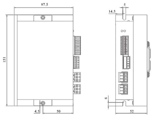 DH03HR高壓無刷驅動器-外形尺寸