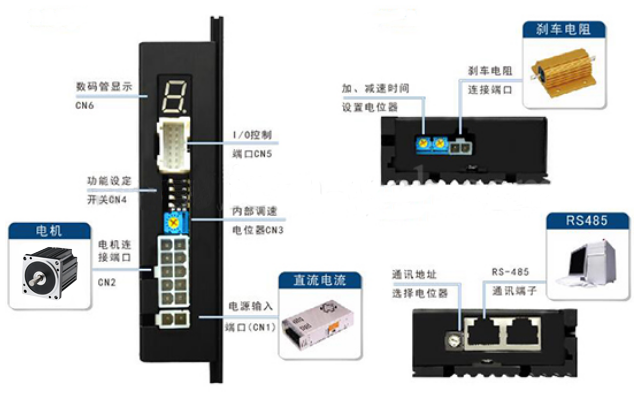 DH08LRD无刷控制器-接线图