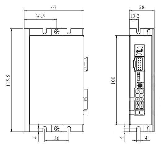 DH08LRD无刷控制器-尺寸图